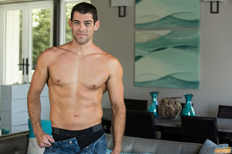 Trevor Bigg strips naked showing off his sultry tan lines