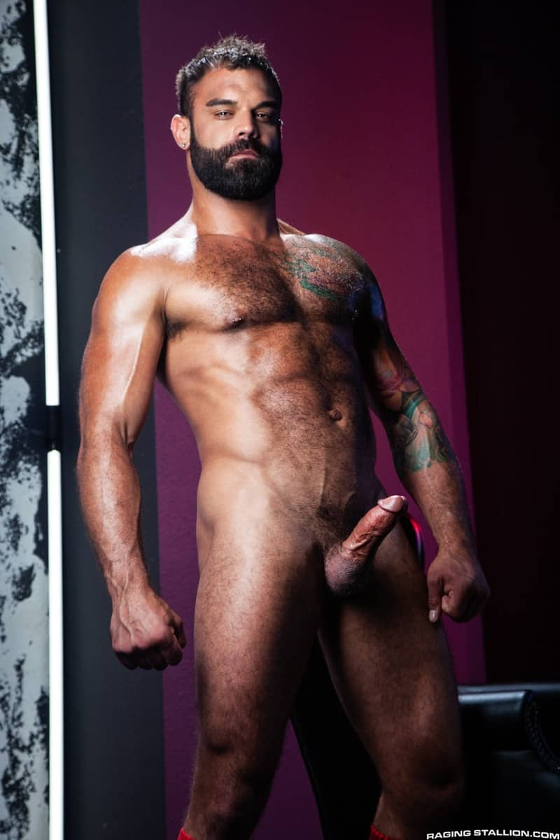 Men for Men Blog James-Stevens-Drake-Masters-hot-tattooed-big-muscle-dudes-cocksucking-huge-throbbing-cock-RagingStallion-005-gay-porn-pictures-gallery James Stevens loves the way Drake Masters' mouth feels wrapped around his huge throbbing cock Raging Stallion