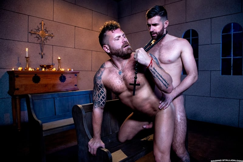 Men for Men Blog Gay-Porn-Pics-013-Father-Woody-Fox-Riley-Mitchel-huge-cock-fucks-hot-muscle-ass-anal-rimjob-RagingStallion Father Woody Fox's huge cock fucks Riley Mitchel's hot muscle ass Raging Stallion