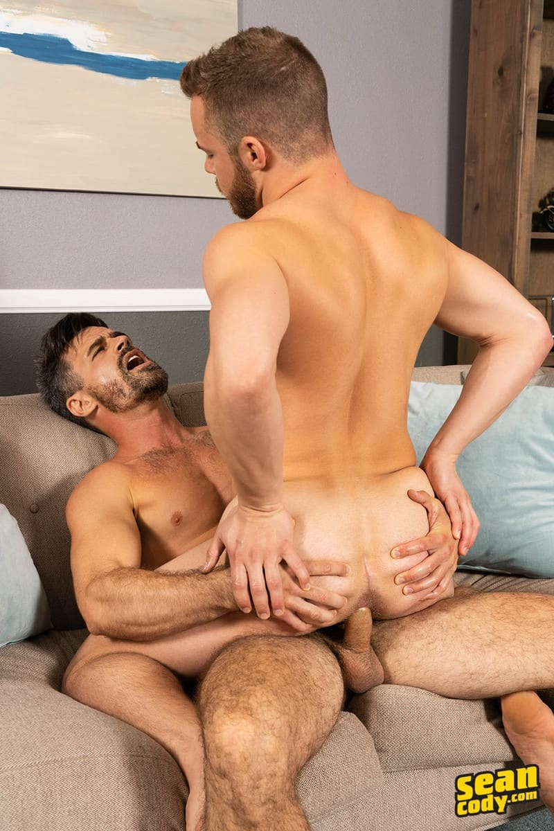 Men for Men Blog Gay-Porn-Pics-012-Stud-Daniel-muscled-Cam-sweaty-bareback-ass-fucking-SeanCody Studly Daniel leads sculpted Cam through a sweaty hands on yoga session before bareback ass fucking Sean Cody