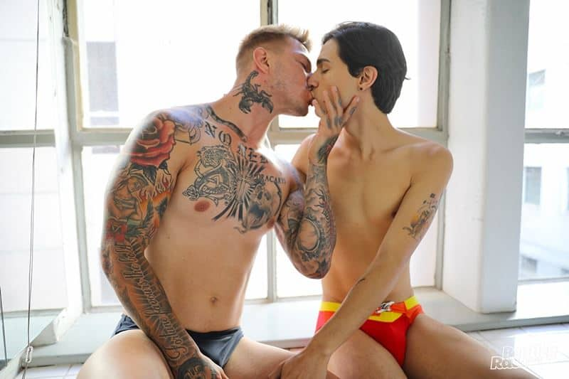 Hot Aussie studs Sarpa Van Rider and Andy Samuel hardcore big dick ass fucking