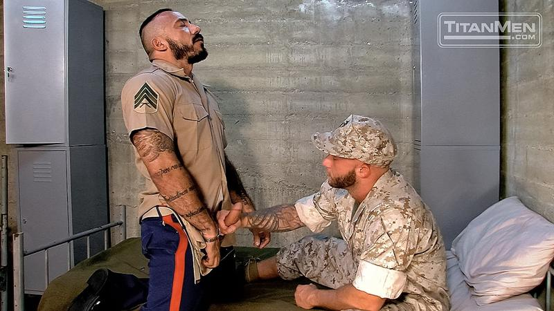 Bearded huge muscle stud Alessio Romero's big dick fucks sexy hunk Drake Jaden's hot bubble butt