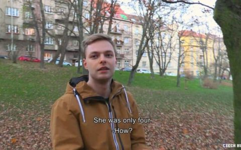Czech Hunter 587 straight young cute dude first time gay anal sex