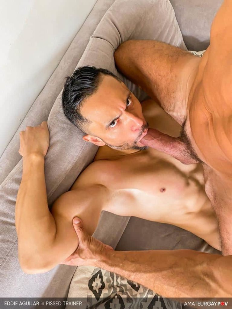 Hot bearded muscle hunk Eddie Aguilar's hot bubble butt raw fucked by huge uncut dick