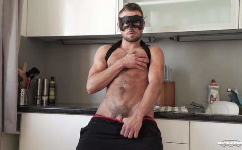 Hot muscled gay porn star Jeffrey Lloyd first porn steps see him jerking his huge dick at Maskurbate