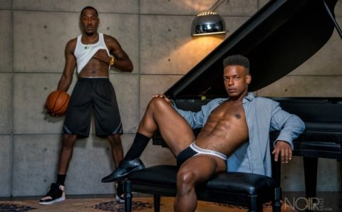 Hottie basketball star Deep Dic's huge black dick ravages Adrian Hart's smooth bubble butt asshole