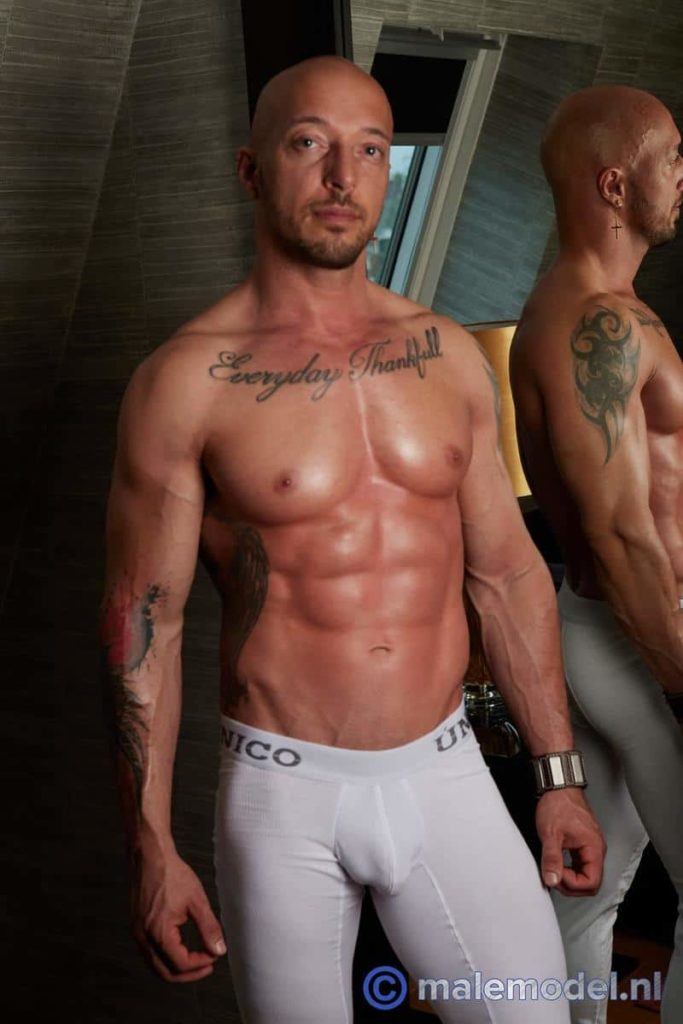 Sexy Hungarian muscle hunk Jozef aka Attila Kardos strips naked showing us his amazing body and 8 inch uncut dick