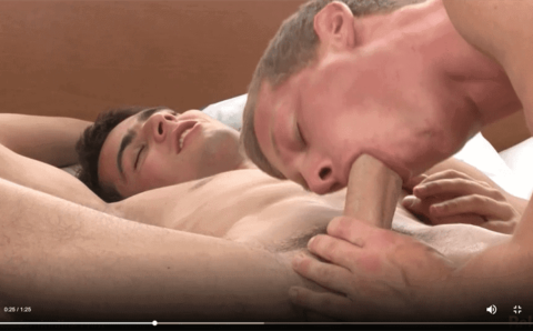 Sexy blonde dude Brian Jovovich's hot bubble butt raw fucked by Raoul Vargas's huge twink uncut dick