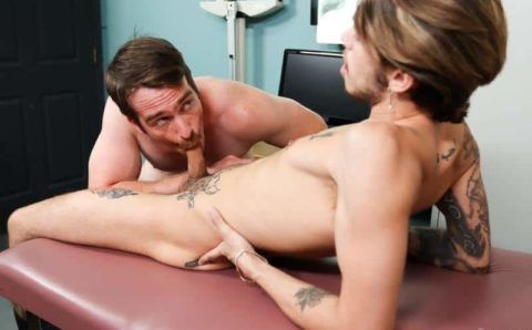 Stepdad Nate Stetson's hot ass floppy haired young dude Ryan Kneeds's big cock at Pride Studios