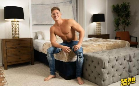 Sexy young muscle boy Max Campbell solo big dick jerk off